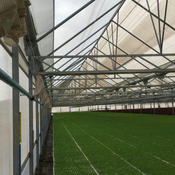 Instalación neumática en un invernadero